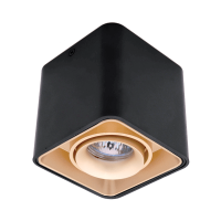DL-044 SQUARE SINGLE DOWNLIGHT SURFACE MOUNTED GOLD/BLACK