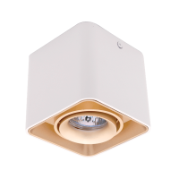 DL-044 SQUARE SINGLE DOWNLIGHT SURFACE MOUNTED GOLD/WHITE