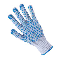 KNITTED WORK GLOVES PLOVER WHITE/BLUE